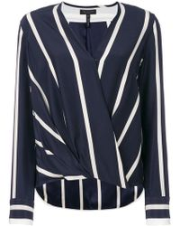 Rag & Bone - Striped Wrap Shirt - Lyst