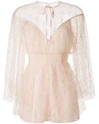 Alice McCALL Magicians Daughter Embroidered Playsuit - Pink