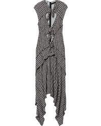 Proenza Schouler Клетчатое Платье С Рукавами Кап - Черный