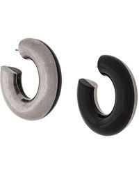 Marni Two-tone Hoop Earrings - Black