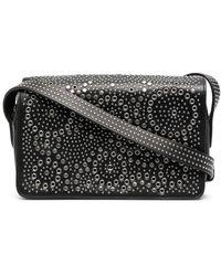 10 Corso Como Stud-embellished Flap Camera Bag - Black