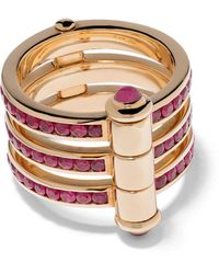 Stephen Webster 18kt Yellow Gold I Promise To Love You Neon Ruby Ring - Metallic