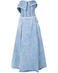 Natasha Zinko - Strapless Bustier Dress - Lyst