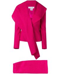 Dior Pre-owned Waterfull Lapel Skirt Suit - Pink