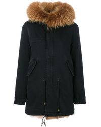 Mr & Mrs Italy Classic Fur-lined Parka - Green