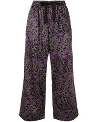 Cynthia Rowley Pantalones de pijama con estampado jaspeado - Morado