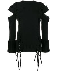 Alexander McQueen | Jumper With Cut Out Arms And Side Ties | Lyst