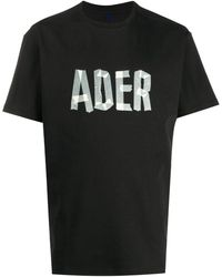 ADER error Logo-print Jersey T-shirt - Black