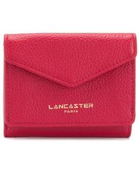 Lancaster Compact Logo Wallet - Red