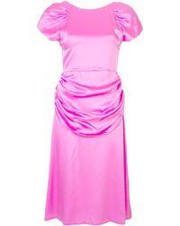 Maryam Nassir Zadeh Midi-jurk Met Ruche - Roze