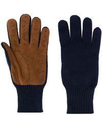 Brunello Cucinelli Kasjmier Handschoenen - Blauw