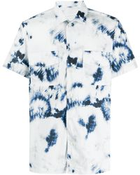 Low Brand Short sleeve bleached-effect shirt - Blanc