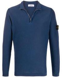 Stone Island Maglione con zip - Blu