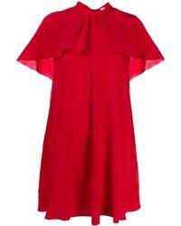 RED Valentino - ラッフル ケープドレス - Lyst