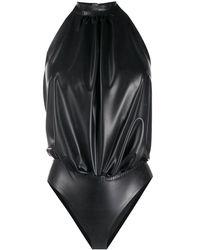 Saint Laurent Боди С Вырезом Халтер И Запахом - Черный
