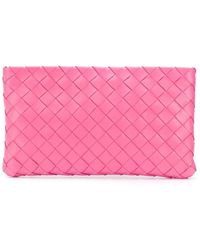 Bottega Veneta Trousse make up con design Intrecciato - Rosa