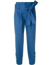 Martha Medeiros Pantaloni con pieghe - Blu