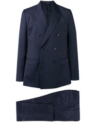 Dolce & Gabbana Doppelreihiger Anzug - Blau