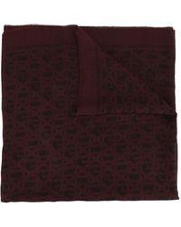 Dolce & Gabbana Fular con logo - Rojo