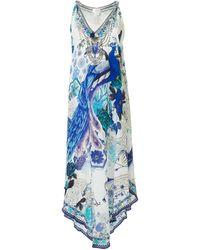 Camilla ノースリーブ ドレス - ブルー