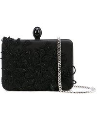 Oscar de la Renta Rogan Box Clutch - Black