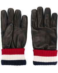 Moncler - Handschuhe mit gestricktem Bündchen - Lyst