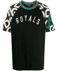 Dolce & Gabbana T-shirt Met Print - Zwart