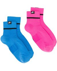 Nike Pack Of Two Logo Socks - Blue