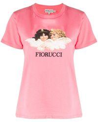 Fiorucci Angel プリント Tシャツ - ピンク