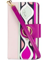 Emilio Pucci Heliconia Print Iphone Xs Cover - Pink