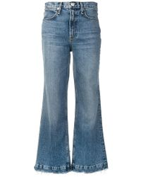 Rag & Bone - Frayed Wide-leg Jeans - Lyst