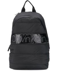 Calvin Klein Gesteppter Rucksack mit Logo - Schwarz
