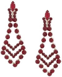 Susan Caplan 1980's Art Deco Style Chandelier Earrings - Multicolour