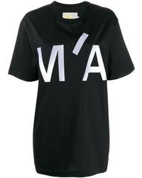 Marques'Almeida オーバーサイズ ロゴ Tシャツ - ブラック
