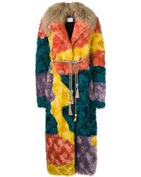 Peter Pilotto Multicoloured shearling coat - Multicolore