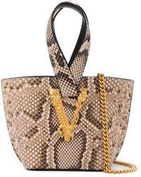Versace Virtus Bucket Bag - Multicolour