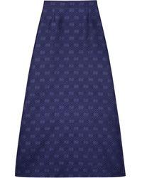 Gucci GG ストライプ スカート - ブルー