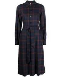 Tommy Hilfiger Check-print Shirt Dress - Blue