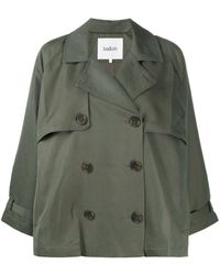 Ba&sh Double-breasted Boxy-fit Jacket - Green