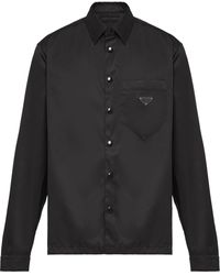 Prada スナップボタン シャツ - ブラック
