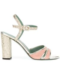 Paola D'arcano | Glitter-finished Strappy Sandals | Lyst