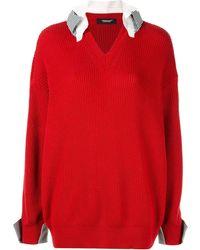 Undercover Gelaagde Sweater - Rood