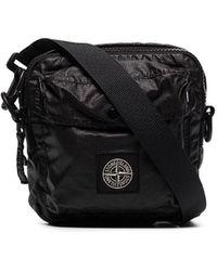 Stone Island Small Map Messenger Bag - Black