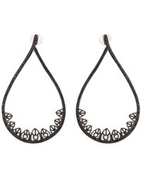 Joelle Jewellery - Gothic Teardrop Diamond Earrings - Lyst