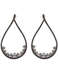 Joelle Jewellery - Gothic Teardrop Diamond Earrings - Lyst