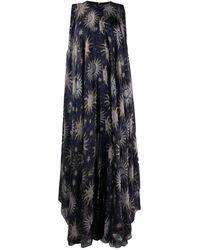 Maison Rabih Kayrouz Sun Print Flared Dress - Blue