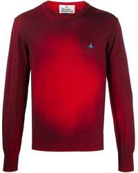 Vivienne Westwood Jersey con estampado tie-dye y logo - Rojo
