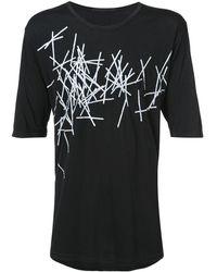 The Viridi-anne Printed Jersey T-shirt - Black