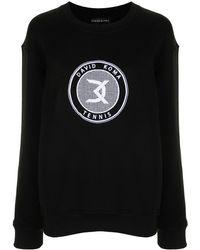 David Koma ロゴ スウェットシャツ - ブラック