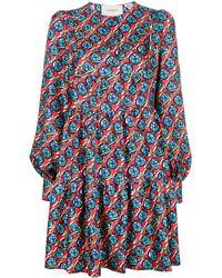 La DoubleJ Long-sleeve Floral Print Dress - Красный